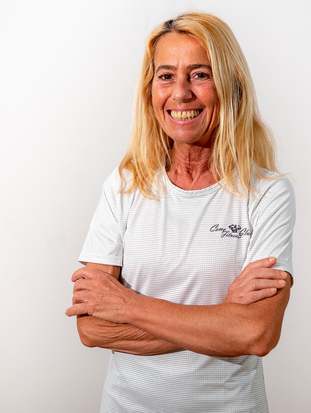 Laura Baserga como fitness club